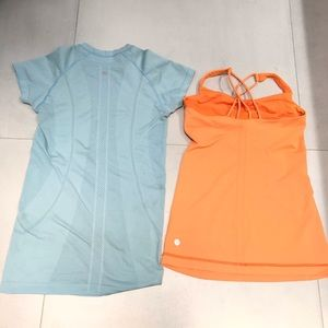 Lululemon set of 2 run Swiftly Glo Tank